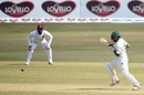 Shadman Islam punches one through the covers, Bangladesh vs West Indies, 1st Test, Chattogram, Day 1, February 3, 2021