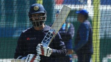 Lahiru Thirimanne bats in the nets