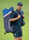 Jonathan Trott walks to practice during the England-Pakistan series
