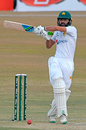 Fawad Alam swivels for the pull, Pakistan v South Africa, 2nd Test, Rawalpindi, 1st day, February 4, 2021