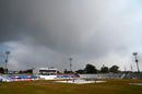 Dark clouds gather over the Rawalpindi ground, Pakistan v South Africa, 2nd Test, Rawalpindi, 1st day, February 4, 2021