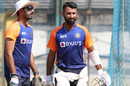 Vikram Rathour, India's batting coach, with Cheteshwar Pujara at a training session, India vs England, Chennai, February 4, 2021