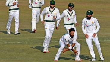 Hasan Ali got many chances to show off his customary celebration