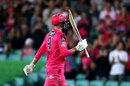 James Vince takes in the applause for his 95, Sydney Sixers vs Perth Scorchers, BBL final, SCG, February 6, 2021
