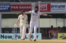 Jasprit Bumrah is pleased after getting Dom Bess early on day three, India vs England, 1st Test, Chennai, 3rd day, February 7, 2021