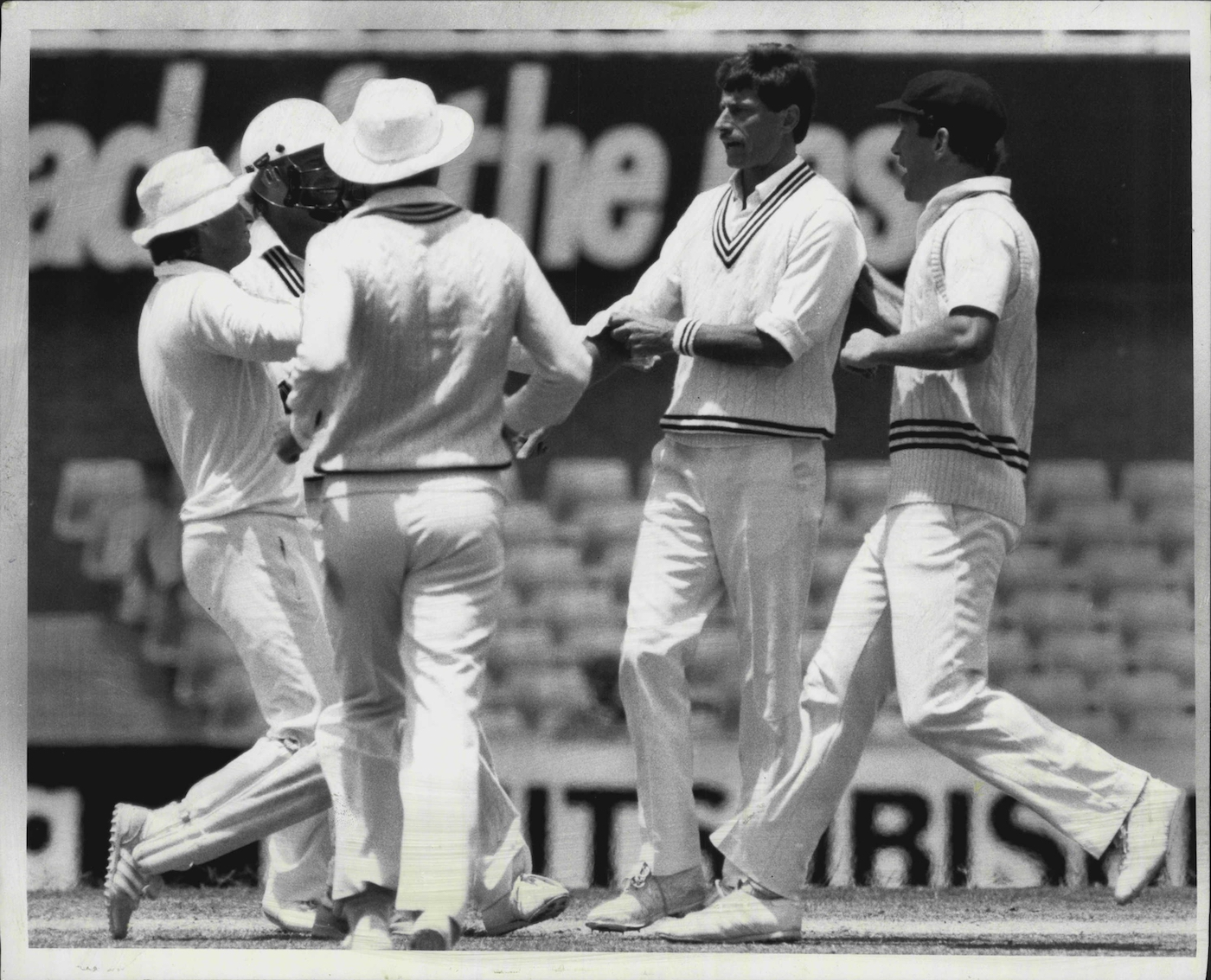 Richard Hadlee became only the tenth player to take nine wickets in an innings