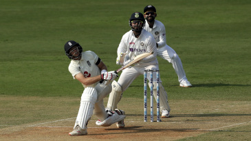 Joe Root gets to a fifty in his 100th Test