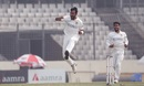 Abu Jayed takes off in celebration, Bangladesh v West Indies, 2nd Test, Dhaka, 1st day, February 11, 2021