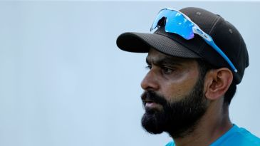 Mohammad Hafeez during a training session
