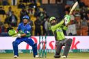 Mohammad Hafeez goes over the off side, Lahore Qalandars vs Multan Sultans, Pakistan Super League, Lahore, February 21, 2020