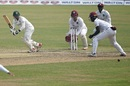 Liton Das works one through the on side, Bangladesh vs West Indies, 2nd Test, Dhaka, 3rd day, February 13, 2021