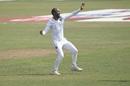 Kraigg Brathwaite celebrates a wicket, Bangladesh v West Indies, 2nd Test, Dhaka, 4th day, February 14, 2021