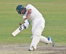 Mehidy Hasan Miraz tonks one out of the middle of the bat, Bangladesh v West Indies, 2nd Test, Dhaka, 4th day, February 14, 2021