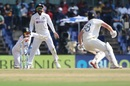 Rishabh Pant lunges forward to catch Dan Lawrence out of the crease, India vs England, 2nd Test, Chennai, 4th day, February 16, 2021