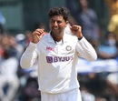 Kuldeep Yadav is thrilled after picking up a wicket, India vs England, 2nd Test, Chennai, 4th day, February 16, 2021