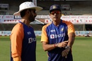 Vikram Rathour and Ravi Shastri have a chat, Chennai, February 16, 2021