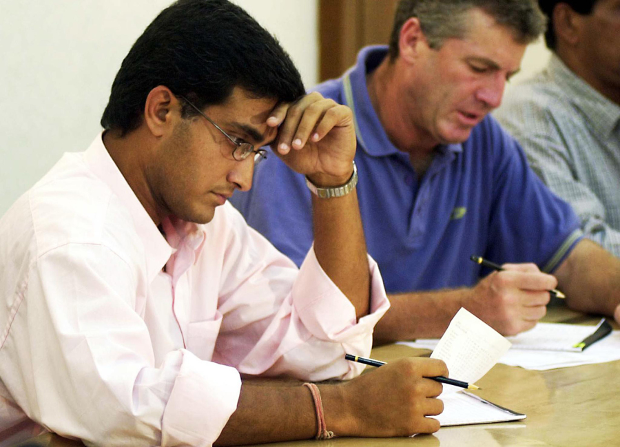 Pick of the bunch: Sourav Ganguly (left) had to work hard to convince the selectors to put Singh's name down for the series