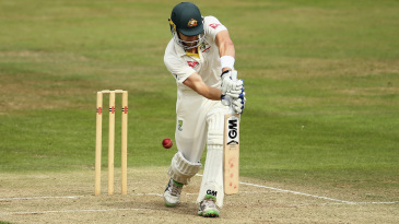 Shane Watson was trapped lbw