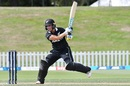 Hayley Jensen plays one on the off side, New Zealand Women vs England Women, 1st ODI, Christchurch, February 23, 2021