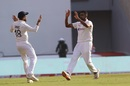 Virat Kohli and R Ashwin celebrate after England lost a wicket just after tea, India vs England, 3rd Test, Ahmedabad, Day 1, February 24, 2021