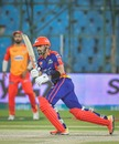 Babar Azam sets off for a quick single, Karachi Kings vs Islamabad United, PSL 2021, Karachi, February 24, 2021