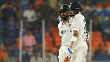 Rohit Sharma and Virat Kohli rebuilt for India on day one with a half-century stand
