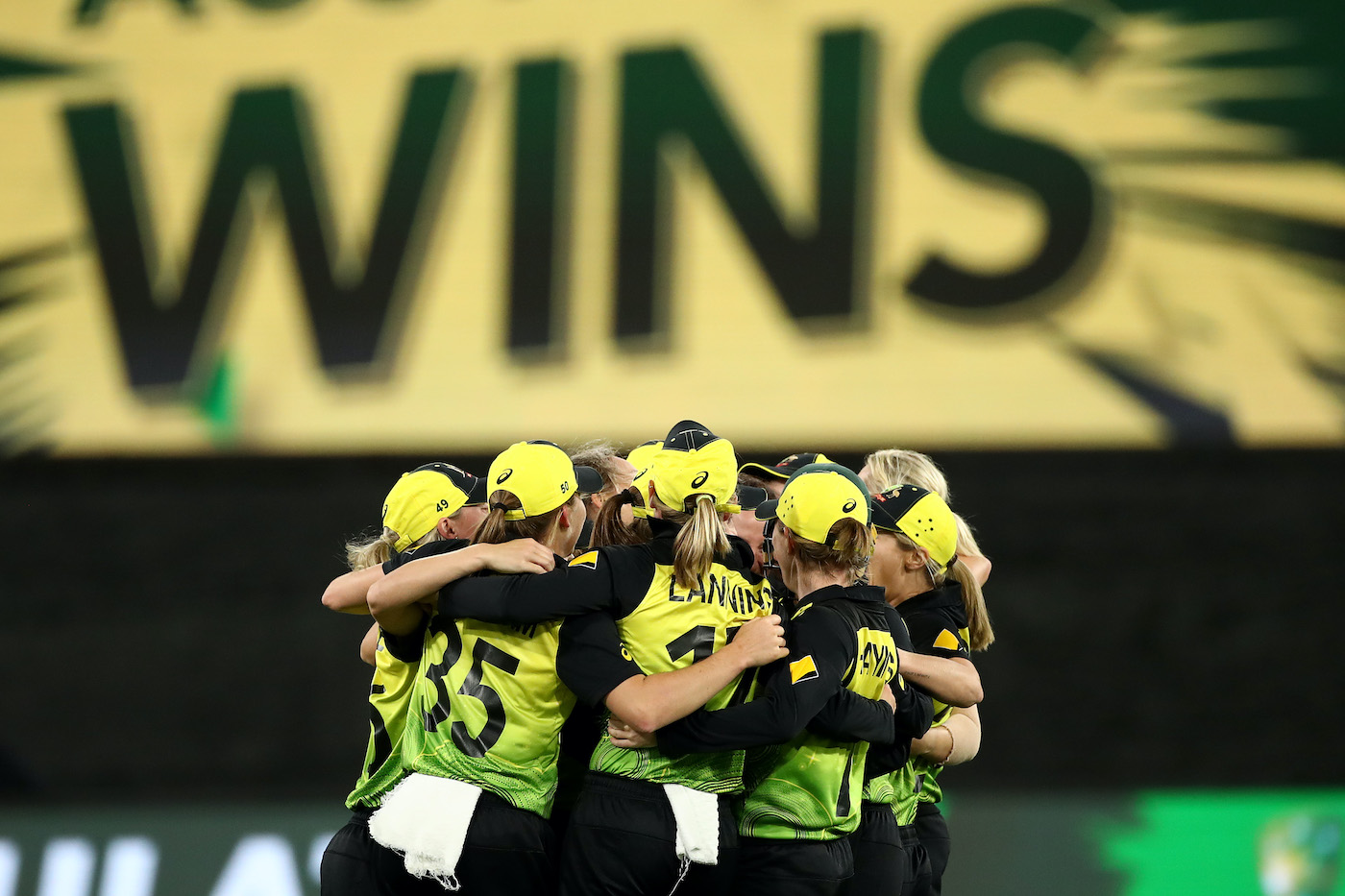 Australia celebrate their win