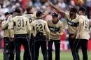 Tim Southee celebrates the wicket of Matthew Wade, New Zealand vs Australia, 2nd T20I, Dunedin, 25 February, 2021