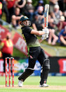 Marcus Stoinis kept Australia in the match, New Zealand vs Australia, 2nd T20I, Dunedin, 25 February, 2021