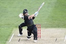 Aaron Finch fetches one from outside off, New Zealand vs Australia, 2nd T20I, Dunedin, February 25, 2021