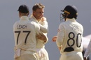 Joe Root, Jack Leach, and Ollie Pope celebrate a wicket, India vs England, 3rd Test, Ahmedabad, Day 2, February 25, 2021