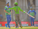 Shahid Afridi and Mohammad Hafeez share a joke, Multan Sultans vs Lahore Qalandars, Karachi, Pakistan Super League, February 26, 2021