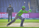 Mohammad Hafeez flays one through the off side, Multan Sultans vs Lahore Qalandars, Karachi, Pakistan Super League, February 26, 2021