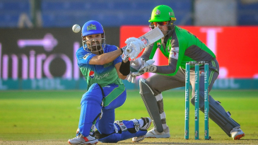 Mohammad Rizwan gets low to sweep