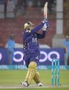 Azam Khan clouts a short ball over square leg, Peshawar Zalmi v Quetta Gladiators, PSL 2021, Karachi, February 26, 2021