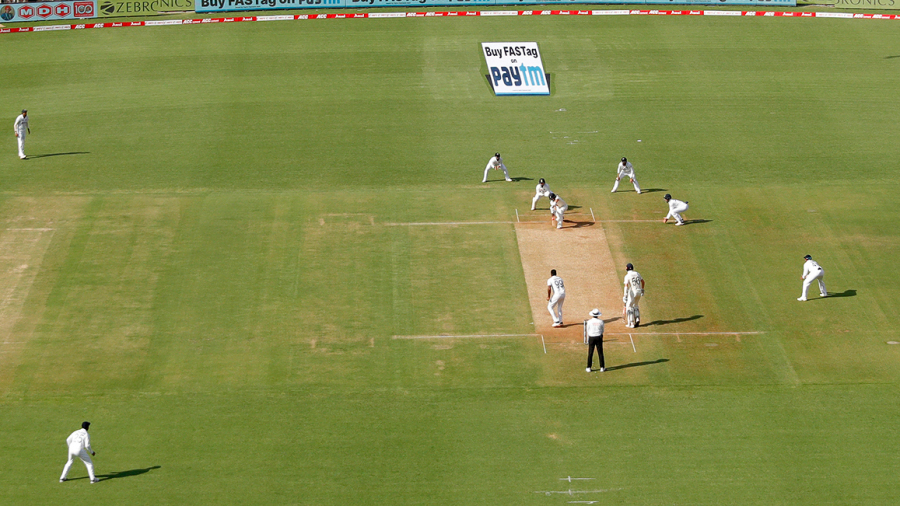 A general view of play on day one of the Ahmedabad Test