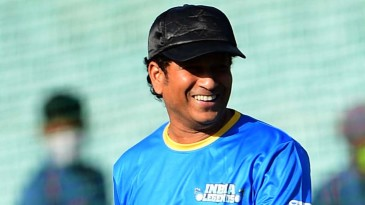 Sachin Tendulkar sports a smile a day before the start of the Road Safety World Series