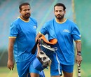 Brothers Yusuf and Irfan Pathan arrive to train in the nets, Road Safety World Series, Raipur, March 4, 2021