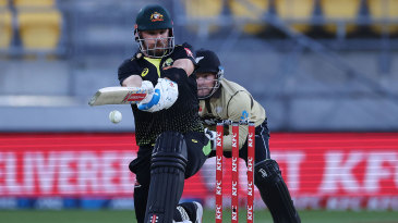 Aaron Finch batted throughout Australia's innings