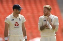 James Anderson and Ben Stokes chat in the middle, India vs England, 4th Test, Ahmedabad, 2nd Day, March 5, 2021