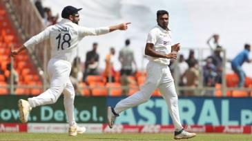 Virat Kohli is thrilled as R Ashwin strikes