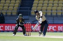 Martin Guptill hits into the leg side, New Zealand vs Australia, 5th T20I, March 7, 2021, Wellington