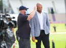 Tymal Mills gets mic-ed up for commentary, England v Australia, 2nd T20I, Southampton, September 6, 2020