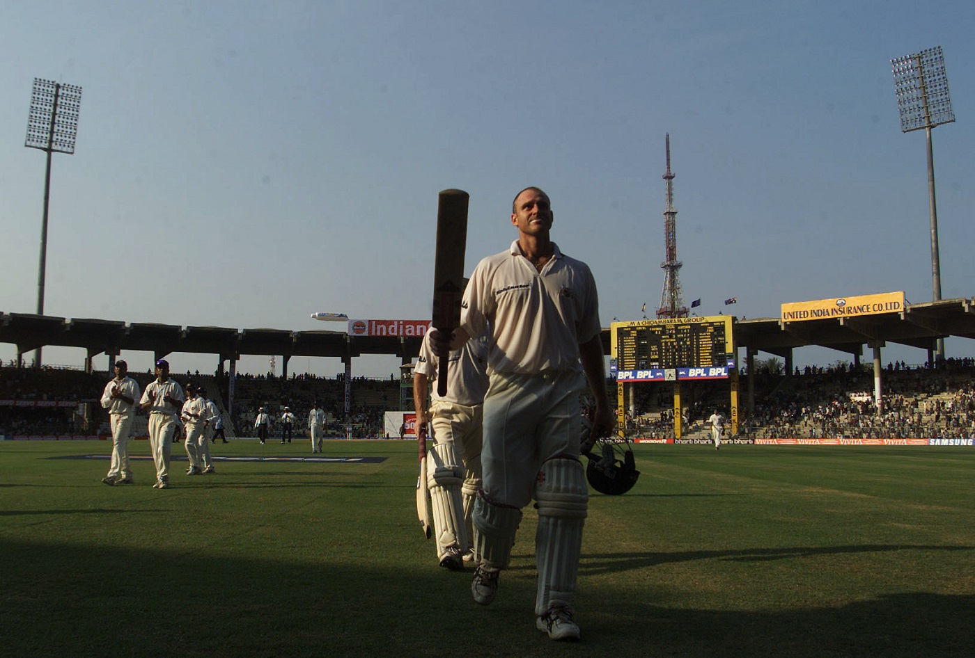 Hungry for runs: the 203 in Chennai was Matthew Hayden's first Test double-century. He went on to score a triple two years later