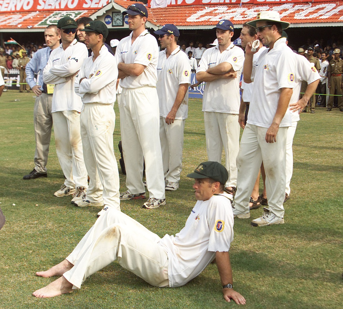 How the mighty fell: in their last 15 series before the 2001 one, Australia had lost only twice, in India in 1997-98 and in Sri Lanka in 1999