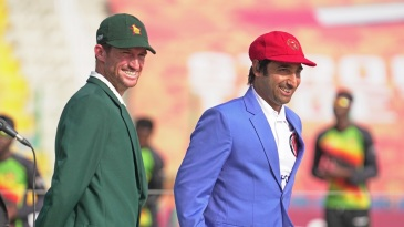 Sean Williams and Asghar Afghan at the toss