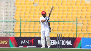 Asghar Afghan became Afghanistan's second Test centurion