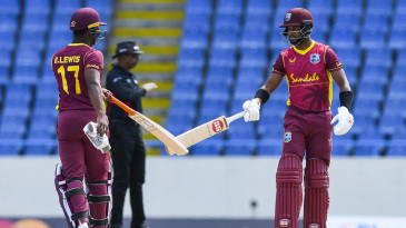 Evin Lewis and Shai Hope shared a strong opening partnership