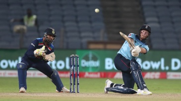 Ben Stokes pulls out a slog sweep