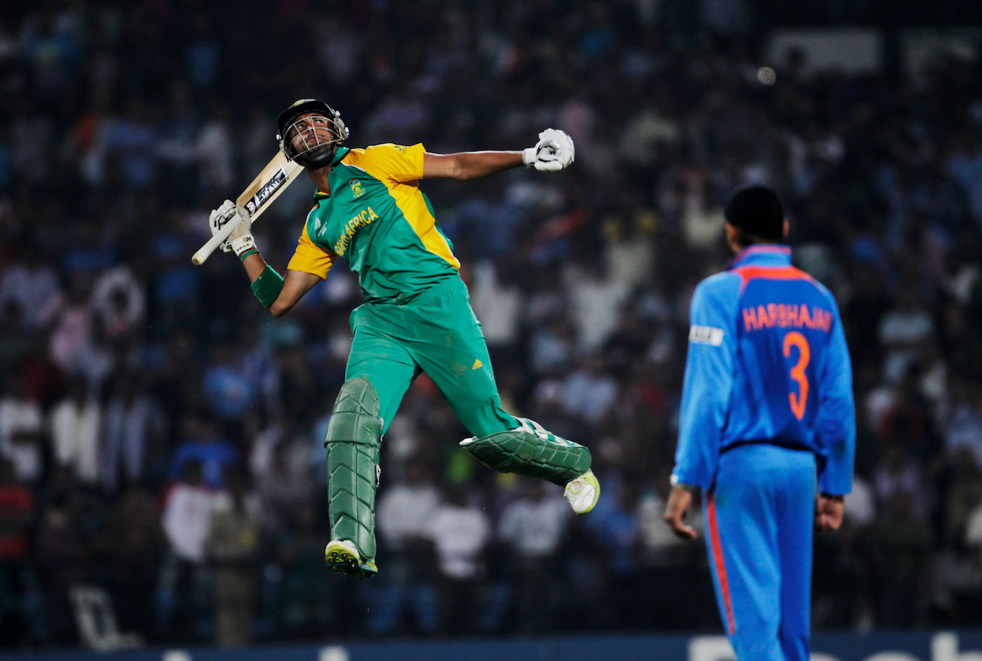 India's only defeat in the tournament came against South Africa, whom Robin Petersen took home in the last over